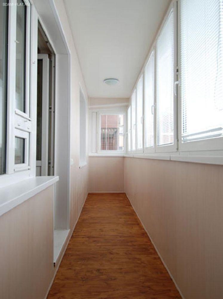 Отделка балконов и лоджий, вагонка, отделка стен в ельниках.